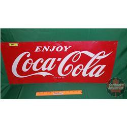 """Enjoy Coca-Cola"" Single Sided Tin Sign (12"" x 29-1/2"")"