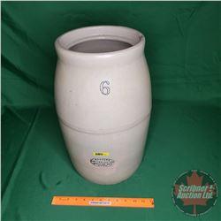 "Medalta Potteries Ltd. 6 Gal Butter Churn Crock (No Lid - No Paddle) (18""H x 9""Dia)"