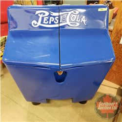 """Pepsi:Cola"""" GullWing Ice Chest (Double Dot) (Refurbished) (43""""H x 33""""W x 27""""D)"""