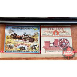 "Repro / Man Cave Signs Single Sided Tin (Embossed) (2): ""Wood, Taber & Morse's Steam Engine"" (13"" x"