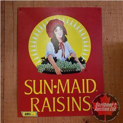 "Repro Sign Single Sided Tin ""Sun Maid Raisins (16"" x 12-1/2"")"