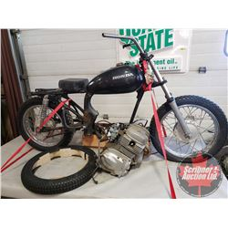 Motorbike : 1980 Honda CM200T (Not Running - Project Bike) c/w extra new front tire (engine comes wi