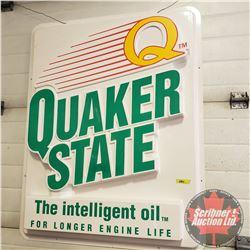 "Quaker State Sign (Plastic Insert / Lens) (43""H x 35""W x 3""D)"