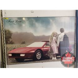 """First Love"" Hardboard Wall Décor (25"" x 35"")"
