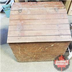 "Custom Built Firewood Box (80 Yrs Old) (25""H x 24""W x 20""D)"