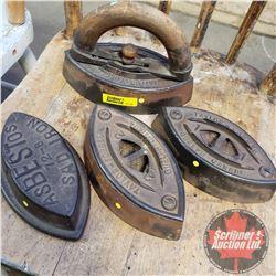 Sad Irons (4) with 1 Handle