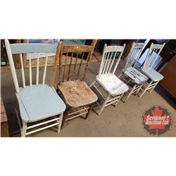 Vintage Wooden Chairs - Variety (5)