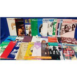 Variety of Sheet Music (36) incl: 80's Rock & Roll, Piano, Vocal, Guitar