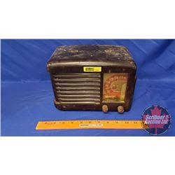 "Marconi Tube Radio (untested - no plug) (9-1/2""W x 7""H x 5-1/2""D)"