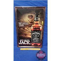 "Man Cave ""Jack Daniels"" Single Sided Tin Sign (16""W x 24""H)"
