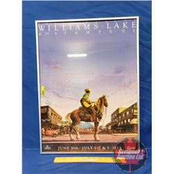 """""""Williams Lake 62nd Stampede … 1988 … Coors"""" Framed Print (18""""W x 24""""H)"""