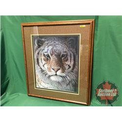 "Robert Bateman Framed Print ""TIGER"" (32""H x 28""W)"