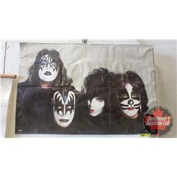 """KISS Poster 1979 """"Rock Steady"""" (Mounted on Cardboard) (35""""W x 23""""H)"""