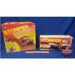 STOMPER Badlands Trail Set w/Stomper Vehicle 1983 & STOMPER 4x4's Stunt Set