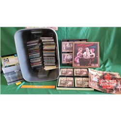 Tote Lot: CD's (88 Variety Country Western - Some burned) & 2 CD Box Sets (Hank Thompson & Wilma Lee