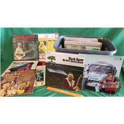Tote Lot: 46 Hank Snow Record Albums (LP'S + One 78)