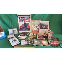Box Lot: The Carter Family Collection w/Souvenir Books, Vintage Poster, DVD's, CD's, Music Book
