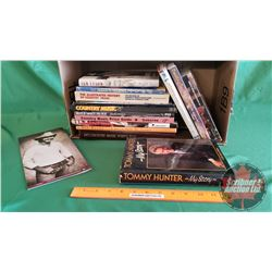 Box Lot: Country Music Books & Magazines & Pamphlet (See Pics)