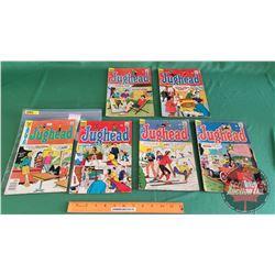 JUGHEAD – Archies Series COMICS (6): Clean Getaway #144 c.1967 ; Cake Mistake #148 c.1967 ; The Fien