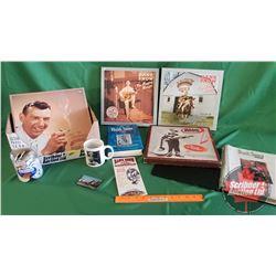 Box Lot: Hank Snow (Biography, Coffee Cup, 4 CD Box Sets, Variety Ephemera Collection, Photos, etc)