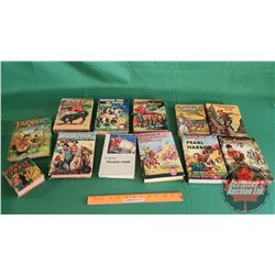Tray Lot: Hard Cover Books Collection - the Classics (Incl: Tom Sawyer, Tarzan, Around the World in