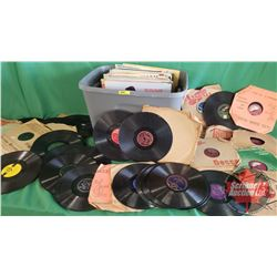 Tote Lot: Country Western Album Collection 78's (50) & LP's (51)  (Incl: Mac Wiseman, Winnie Chafe,