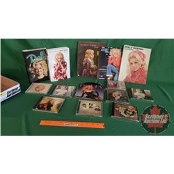 Tray Lot: Dolly Parton Collection (Books, Music Books, CD's & One 45 Record)