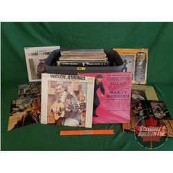 Tote Lot: Country & Western LP's (62) (Incl: Merle Haggard, Dolly Parton, Marty Robbins, Lee Moore,