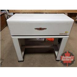 "Speed Queen WHIZZ-IRON Electric Linen Press in Enamel Rolling Cabinet (33""H x 32""W x 14""D)"
