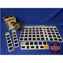 Panavue 1 Slide Viewer in Box, 14 Slides (Alcatraz, Hawaii, etc)