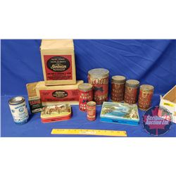 Collector Combo: Variety of Confectioner Tins & Sunbeam Mixmaster Attachments (See Pics)