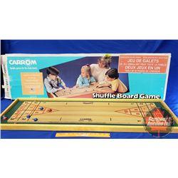 "Carrom Shuffle Board Game (49"" x 14""0"