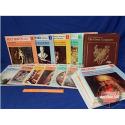 The Great Composers Record Album Collection (24) with Illustrated 24 Book Collection