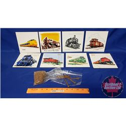 Railroad Collector Combo: Antique Nails (50) & Variety of CN Rail Safety Award Plaques