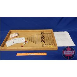Vintage Wood Horse Racing Game with Instructions, Cards & Dice