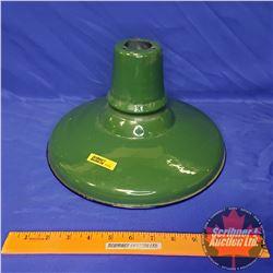 "Porcelain Gas Lamp Shade (Green) 12"""