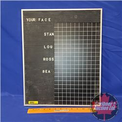 """Metal Schedule Board with Letters (14""""W x 17""""H)"""