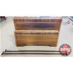 """Headboard / Footboard / Bedframe : Double Bed """"T. Eaton Co."""" (Headboard = 56""""W x 37""""H)"""