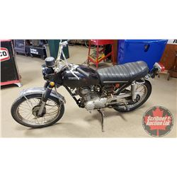 Motorbike: 1971 Honda CL100 (Not Running - Project) (Note: The Engines/Motorbikes & Engine Parts in