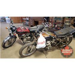 Motorbikes (2) : 1971 & 1972 Honda CB500's (Not Running - Project) (Note: The Engines/Motorbikes & E