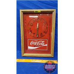 Coca-Cola Combo: Patio Umbrella & Wall Clock (Note: Paint Scratched on clock)