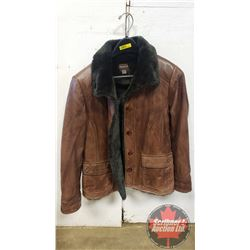 "Lined Leather Coat ""Danier"" (Size XS)"