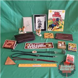 Cowboy Combo: Horse Ornaments, Cowboy S&P, Leather Wallets, Country Music Playing Cards, Red Ryder C