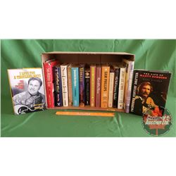 Box Lot: Books (16) Country Music Biographies (Incl: Willie Nelson, Tanya Tucker, Porter Wagoner, Sa