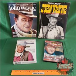 Tray Lot: John Wayne (Incl: Book, Magazine, DVD's) (See Pics)