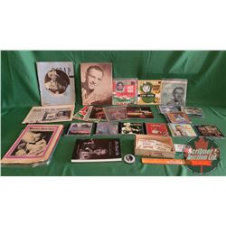 Hank Snow Collection (45's, CD's, Book, Promo Picture, Ephemera) (See Pics)