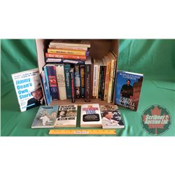 Box Lot: Variety of Books (Music, Biographies) Hardcover & Paperback (See Pics for Titles)