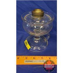 """Coal Oil Finger Lamp: Embossed """"Lomax Guard Lamp Pat 1870"""" (5""""H No Chimney)"""