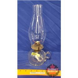 """Coal Oil Finger Lamp: (11""""H Total Height w/Chimney)"""
