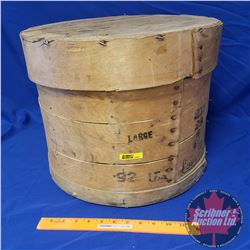 """Cheese Barrel (Stamped 92lbs) (14""""H x 16""""Dia)"""